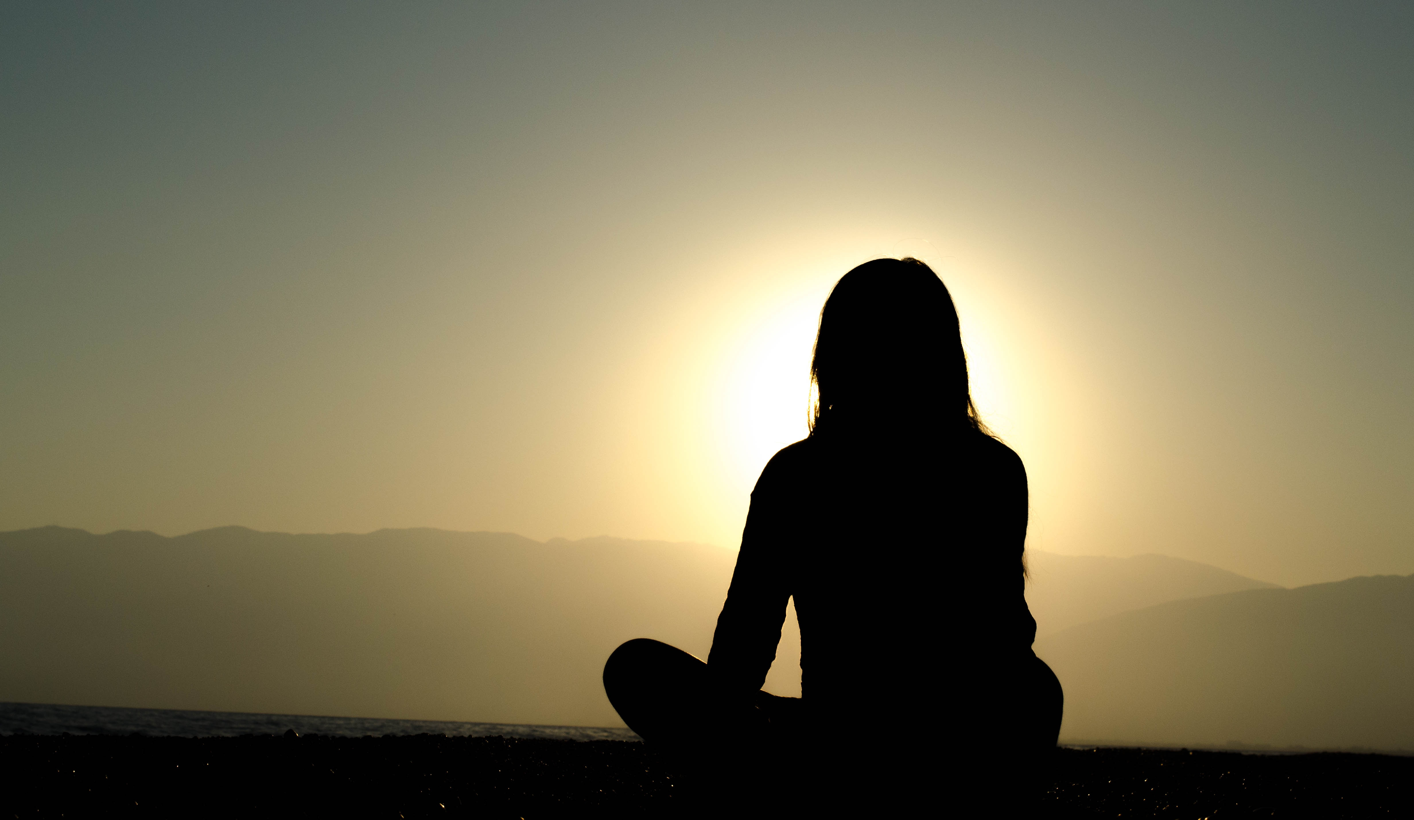 Woman In Meditation, Kava Root Helps With Anxiety and Depression