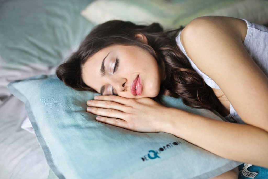 Woman Enjoying Peaceful Sleep, Cure For Insomnia