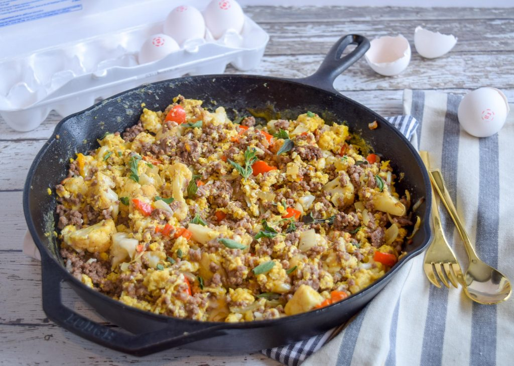 Breakfast Skillet Dish, Eggs Contain Choline